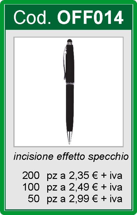 Penna in metallo con soft touch
