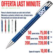 Penna in metallo personalizzata con incisione